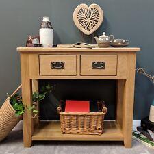 Oak Console Table / Solid Wood Hallway Telephone Table / Grange Light Oak Grange