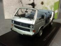 AutoCult 06002, 1982 VW T3 Werksbesichtigungscabrio, Prototype, silber, 1/43
