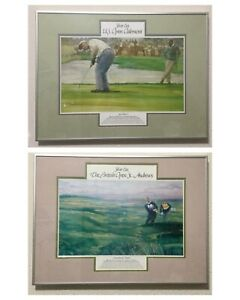 Set of Framed Litho Walt Spitzmiller Watercolors 1962 & 1970 Silver Era Pictures