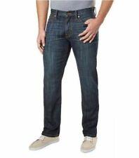 NEW Men's Lucky Brand 221 Straight Fit Distressed Jeans Medium Dark Wash Fade