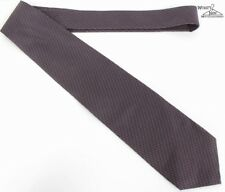 "NEW Piombo Black W/ Purple Geometric 3.5"" Wide Silk Tie"