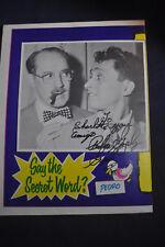 *SIGNED* Pedro Gonzalez Gonzalez SECRET WORD with Groucho Marx Large Poster