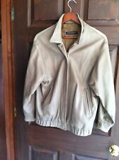 Womens Brooks Brothers Leather Bomber Golf Jacket M