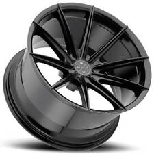 "4ea 19"" Staggered Blaque Diamond Wheels BD-11 Gloss Black Rims (S6)"