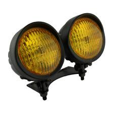 "Twin 4.75"" Headlight Lamp Dual (Yellow) Amber Spotlight Motorcycle"
