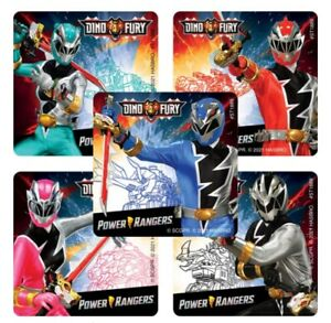 20 Power Rangers Dino Fury  Stickers Party Favors Teacher Supply
