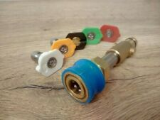 More details for stubby nilfisk 1/4 quick release nozzle adaptor kit set lance adaptor pressure
