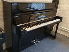 Fibiger Klavier 113 cm hoch Schwarz poliert top Zustand überholt