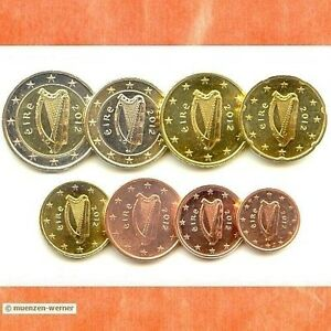 Kursmünzensatz Irland 2012 1c-2 Euro•Münze•KMS alle 8 Münzen Satz Eurosatz Set