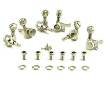 Kluson Locking Tuners - 6 in line, Oval metal button, Nickel KL-3805NL NEW
