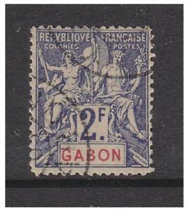 Gabon - 1904/7, 2f stamp - G/U - SG 31