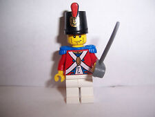 LEGO PIRATES MINIFIG IMPERIAL SOLDIER with SHAKO HAT and sword  .new
