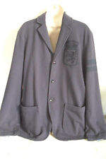 Tommy Hilfiger Mens Solid Navy Blues 100% Cotton 3 Button Sportcoat Size M