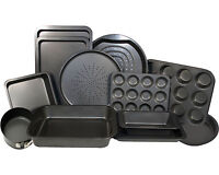 Sets Of Non Stick Carbon Steel Oven Cake Baking Roasting Bakeware Trays Brownie