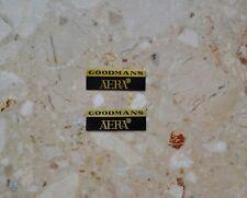 2 x GOODMANS AERA Vintage Metal Emblem Logo  Lautsprecher Namensschilder