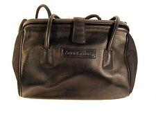 Anne Geddes Black Leather Nursery Room Diaper Bag Tote Handbag W/ Changing Pad