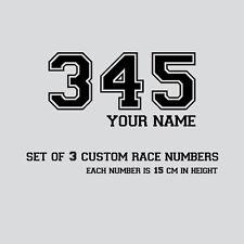 Nombre Personalizado Raza números y X 3 Pegatinas de vinilo Motocross, Ensayos de bici de la suciedad Calcomanías