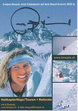 Evelyne binsack ski freestyle autografiada tarjeta firmada 374441