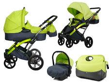 Knorr Baby 3in1 Kombi-Kinderwagen + Autositz Voletto Sport lemon 3100-01