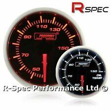 Prosport 52mm Super Amber / White Stepper Motor Oil Temp Temperature Gauge °C