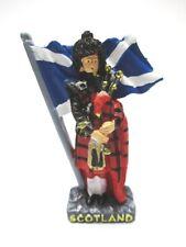 Schottland Magnet Dudelsack Spieler Poly Souvenir Great Britain,Neu