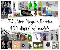 3D Print mega collection 430 +  pcs. Model STL relief for cnc STL format