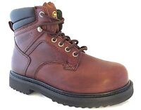 "Wolverine W03150 Mens 6"" Steel Toe Brown Leather Distressed Work Boots SZ 7.5 EW"