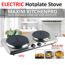 Portable Electric Double Hot Plate Cooker Dorm RV Travel Cooktop Countertop Stov