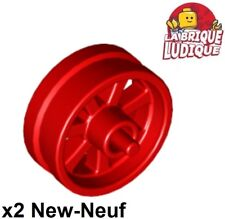 Lego 2x roue jante wheel 15mm D. x 6mm City Motorcycle moto rouge/red 50862 NEUF