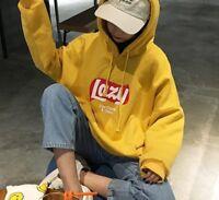 Harajuku Korean Hooded Thick Coat Jacket Lazy Tops Sweatshirt Women Hoodies Plus