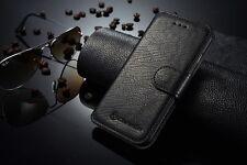 "For Apple iPhone 6 plus 5.5"" Leather  Case  Genuine Flip-  Black + gift"