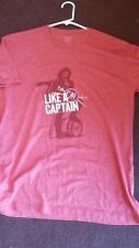Captain Morgan T-Shirt Liquor Drink LIKE A CAPTAIN PRINT ~~~~ XL