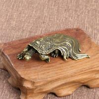 Brass Longevity Turtle Figurine Small Statue House Decoration Animal Figurines