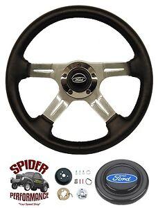 """1968-1976 Torino Gran Torino steering wheel 14"""" FOUR SPOKE"""