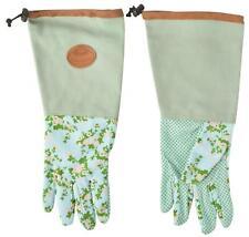 Esschert's Garden Womens Floral Rose Gauntlet Long Cuff  Gardening Gloves - Pair