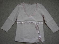 Damen T-Shirt Gr S rosa Baumwolle NEU Stickerei