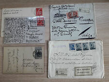 STORIA POSTALE 1913/42 REGNO LOTTO 5 DOCUMENTI POSTALI Z/2152