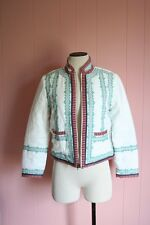 J Crew Collection Embroidered Linen Jacket Size 6 Ivory $495 NWT Bracelet Sleeve