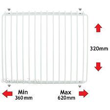 HOTPOINT Fridge Shelf White Plastic Coated Adjustable Freezer Rack Extendable
