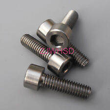 4pcs M6 x 20 mm Titanium Ti Screw Bolt Allen Hex Socket Cap Head Aerospace Grade
