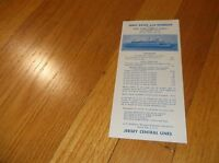 APRIL 1961 CNJ JERSEY CENTRAL JERSEY CITY, NJ FERRY SERVICE PUBLIC TIMETABLE