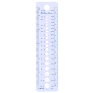 2-10mm Sew Ruler Tools Knitting Needle Gauge Inch cm Ruler Measure SewingMJH2