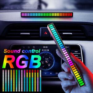 LED Sound Activated Pickup Rhythm Light Strip Music Light RGB Colorful Tube Lamp