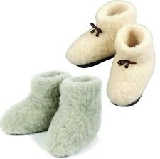 COZY FOOT Womens Mens Sheep Wool Sheepskin size 4 5 6 7 8 9 10 11 Slippers Boots