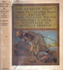 RARE 1944 ARABIAN NIGHTS MAXFIELD PARRISH COLOR PRINTS WITH RARE DUST JACKET