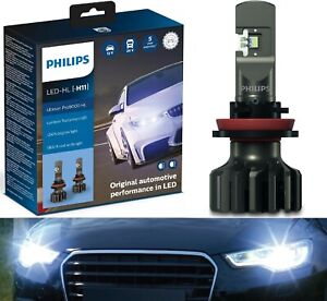 Philips Ultinon Pro9000 LED 5800K H11 Two Bulbs Head Light Low Beam Stock Lamp