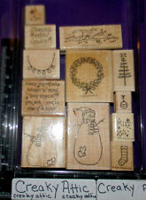 STAMPIN UP THANKS SNOW MUCH 12 RUBBER STAMPS SNOWMEN MELTED DECORATE STOCKING