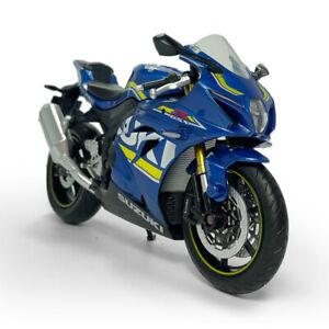 1:12 Scale Suzuki GSX-R1000 Motorcycle Model Diecast Sport Bike Toy Kids Blue