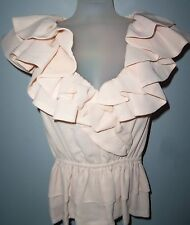 "NWT ""H&M"" Wm's/Jr's size 2 Ivory/Cream Color Ruffled Dress Top"