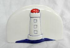 NAUTICA Lighthouse Design dipinti a mano in ceramica tovagliolo Holder-NUOVA CON ETICHETTA